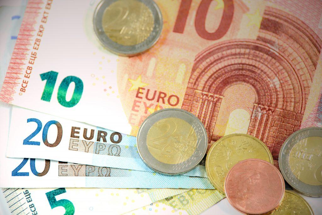 Euro tegn på euro seddel